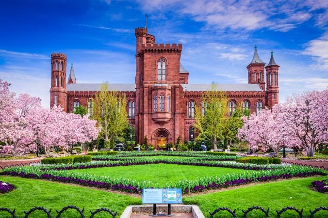 Smithsonian Building in Washington DC, USA.