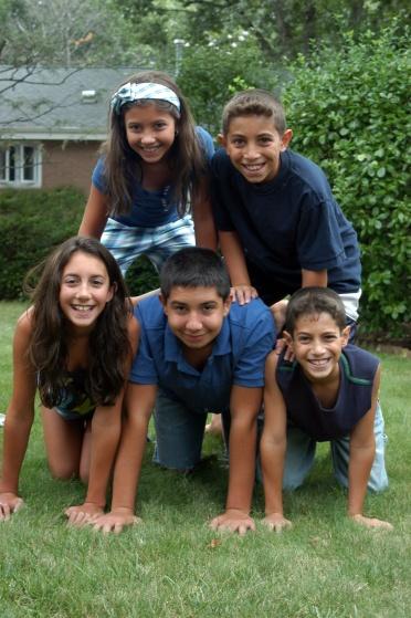 Pyramid of children